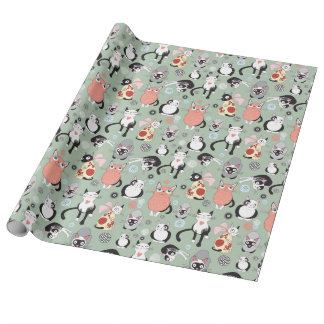 Kitty Cats Cat Lovers  Wrapping Paper