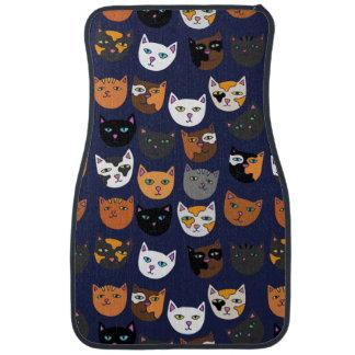 Kitty Cats everywhere pattern Car Carpet
