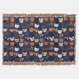 Kitty Cats everywhere pattern Throw