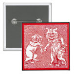 Kitty Cats in Red  by Louis Wain Buttons