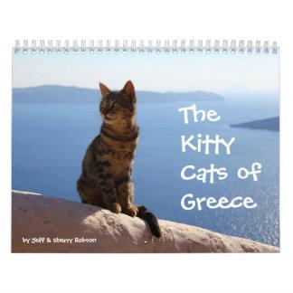 Kitty Cats of Greece Wall Calendar