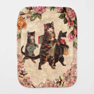 Kitty Cats Pretty Vintage Burp Cloth