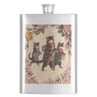 Kitty Cats Pretty Vintage Hip Flask