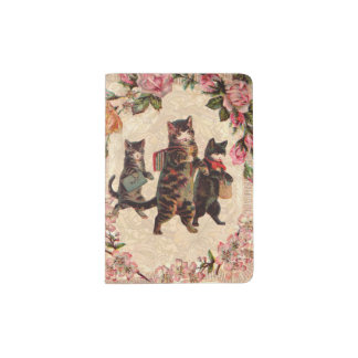 Kitty Cats Pretty Vintage Passport Holder