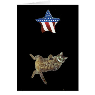 Kitty celebrates 4th of July Card