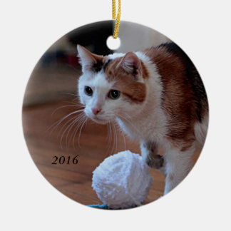 Kitty Ceramic Ornament