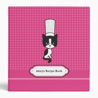 Kitty Chef Pink Recipe Binder