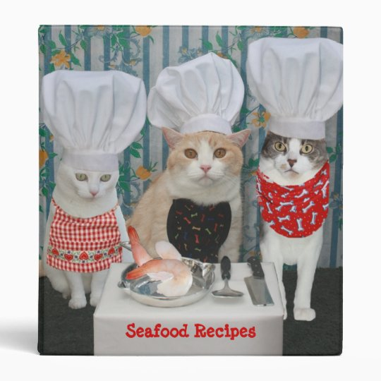 Kitty Chefs/Seafood Recipes Binder