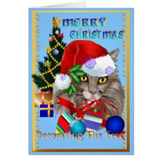 Kitty Christmas Decorations Card