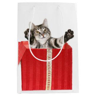 Kitty Christmas hug Medium Gift Bag