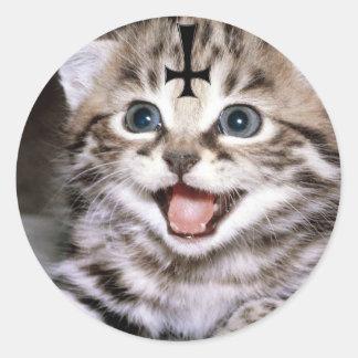 kitty classic round sticker