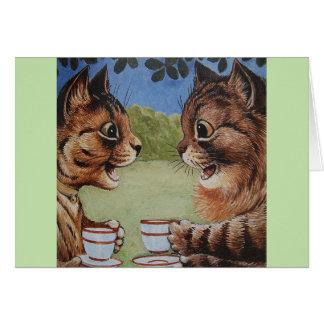 Kitty Coffee Clatch, Card