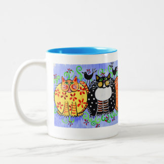 Kitty Coffee Mug -  Calico Cat - Tabby Cat