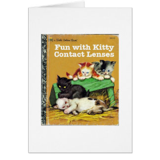 Kitty Contact Lenses Greeting Card