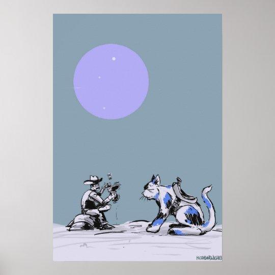 Kitty Cowboy Poster