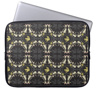 Kitty Damask Laptop Sleeve