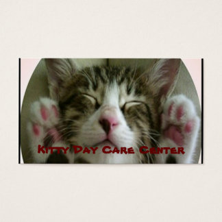 Kitty day care Business Card