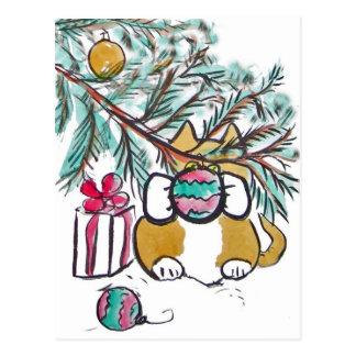 kitty does shaka shaka postcard
