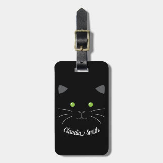 Kitty Face Luggage Tag