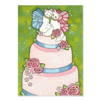 Kitty Fairy Wedding Cake Topper Invitation