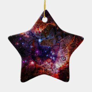 Kitty Galaxy Ceramic Star Ornament
