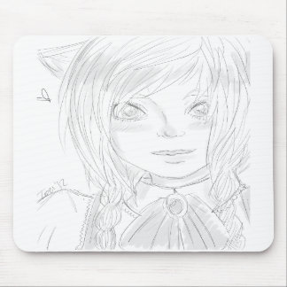 Kitty Girl Mouse Pad