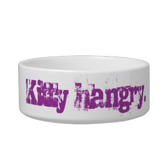 Kitty Hangry Cat Food Bowl