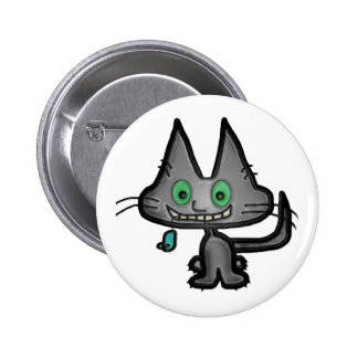 Kitty Has A Toy Mouse Pinback Button