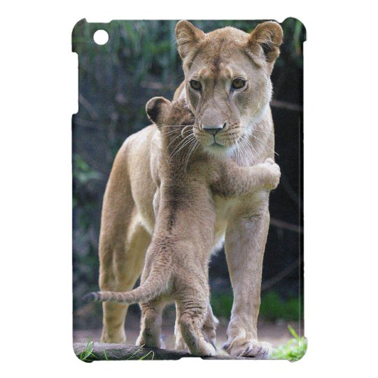 Kitty Hugging Tiger iPad Mini Case