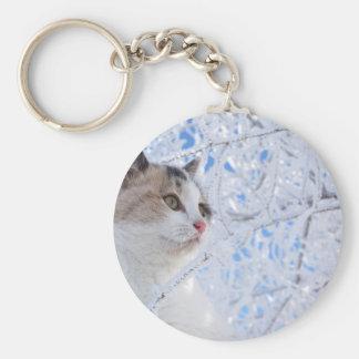 Kitty Ice Queen Basic Round Button Keychain