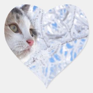 Kitty Ice Queen Heart Sticker
