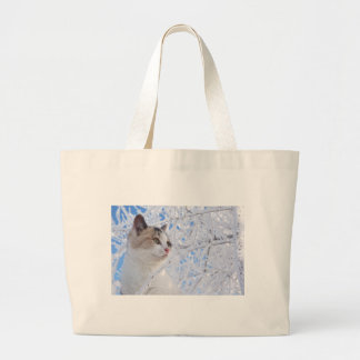 Kitty Ice Queen Large Tote Bag