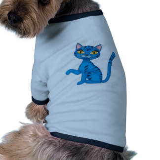 Kitty impertinent bleu t-shirt pour animal domestique