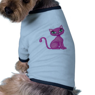 Kitty impertinent rose t-shirts pour animaux domestiques