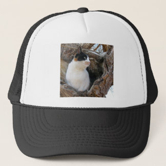 Kitty in a Tree Hollow Trucker Hat