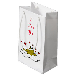 Kitty in Love Small Gift Bag