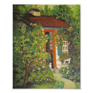 Kitty in the Garden Shed Photo Print