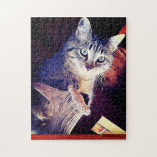 Kitty In The Rafters Close-Up Photograph Puzzle
