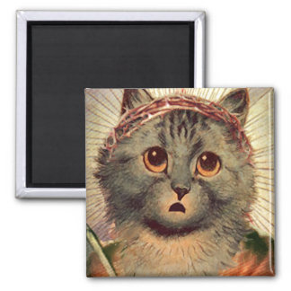 Kitty Jesus with Crown of Thorns Magnet