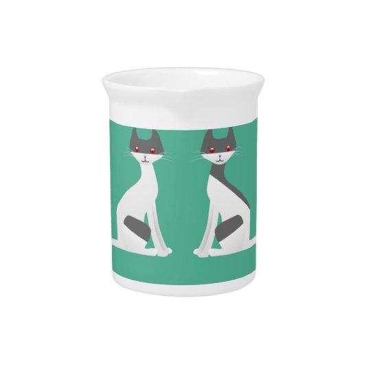 Kitty Kat Porcelain Pitcher