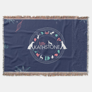 Kitty Kathstone cover Throw Blanket