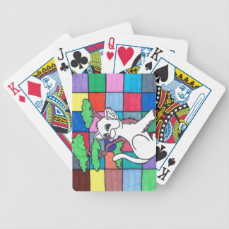 kitty kitty bicycle playing cards