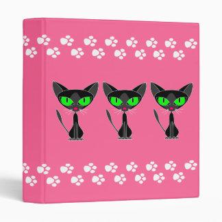 """Kitty Kitty Kat - Pink Paw Binder 1"""""""