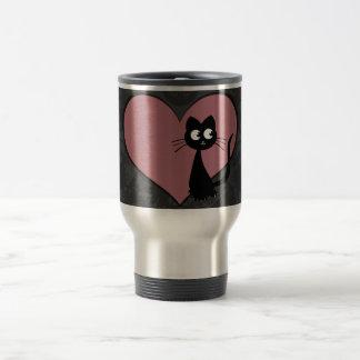 Kitty Kuro Love V Travel Mug