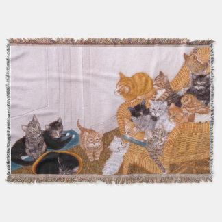 Kitty Litter II Throw Blanket