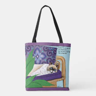 Kitty Lounger Tote Bag