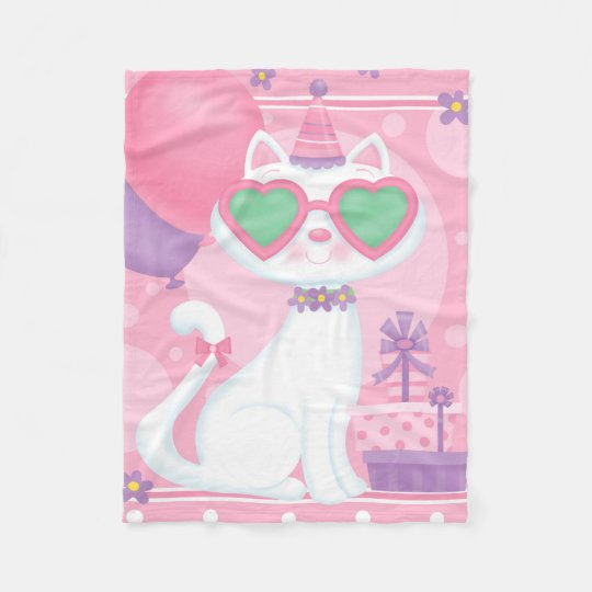 Kitty Love Glasses Blanket