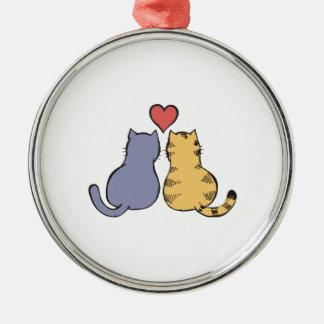 Kitty Love Metal Ornament