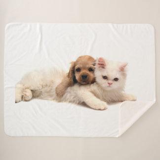 Kitty Love Sherpa Blanket