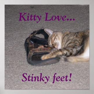 Kitty Love..., Stinky feet! Poster